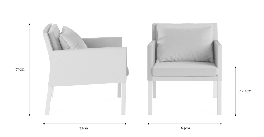 Waikiki Outdoor Armchair Set of 2