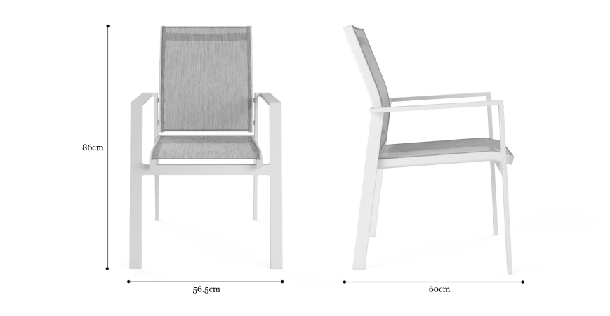 Malibu Outdoor Dining Chair Set of 2