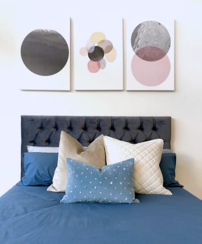 The circles triptych set of 3 emily bed head