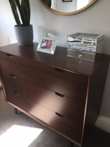 Ethan wide chest of drawers walnut 02