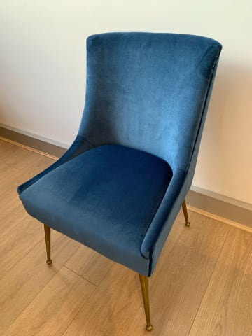 Frank dining chair ocean blue 01