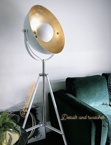 Indus floor lamp large glossy white