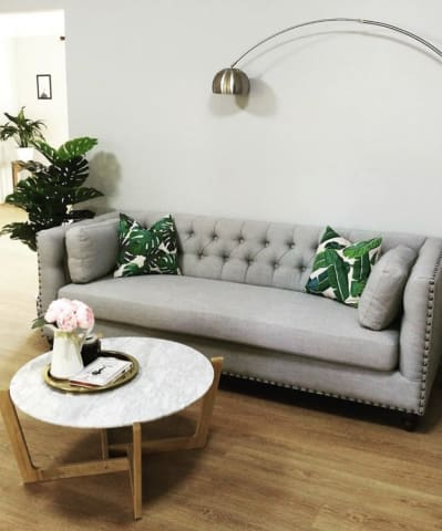 Madeline chesterfield 3 seater sofa cloud grey 03