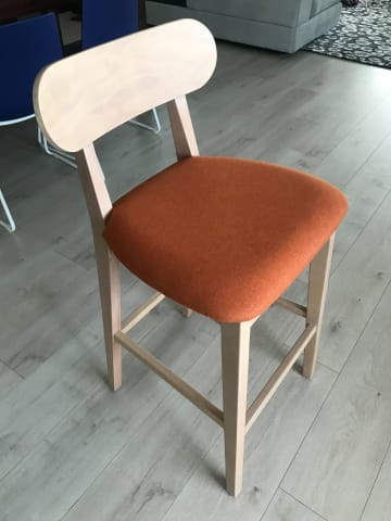 Piccolo bar stool terracotta 01