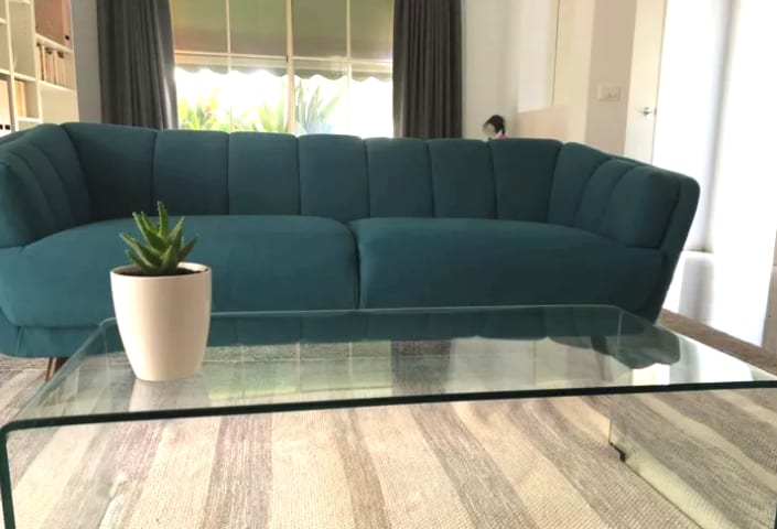 Percy 3 seater sofa teal blue 03