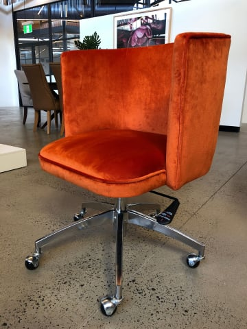 Vince office chair tangerine orange 01