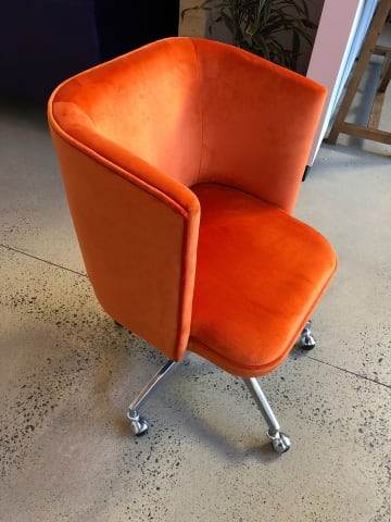 Vince office chair tangerine orange 02