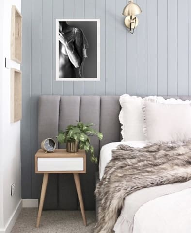 Megan wide bed head cloud grey