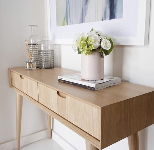 Mia console table with drawers