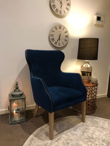Gigi accent chair indigo 01