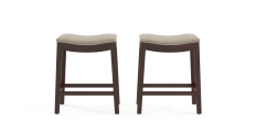 Hocker Set of 2 Low Bar Stools
