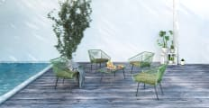 Alicante 5 Piece Outdoor Setting - 4x Armchair and Coffee Table