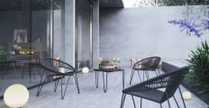 Muro 5 Piece Outdoor Setting 4x Accent Chairs with Coffee Table
