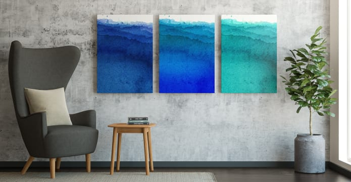 The Cyan Triptych Set of 3