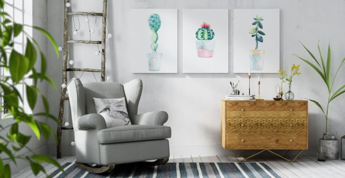 The Succulent Triptych Set of 3
