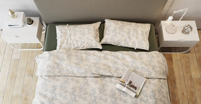 Soft Leaves Duvet Cover Set