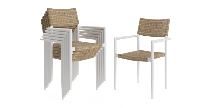 Nelayan Outdoor Dining Chair Set of 6