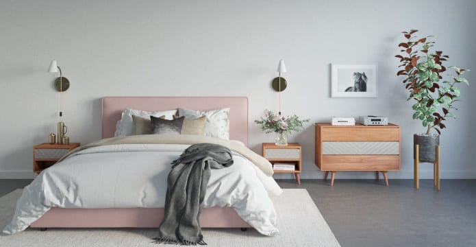 Jodie King Standard Bed Frame