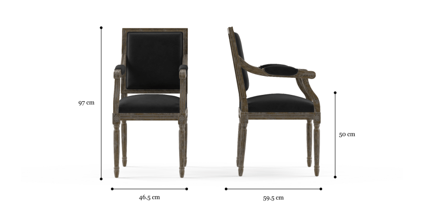 Petite Fleur Dining Chair with Armrest