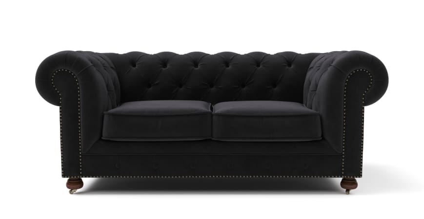 Lounge Suite Notting Hill Velvet Chesterfield 3 Seater and Armchair