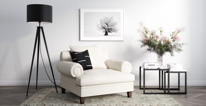 Mila Armchair traditional styling - living room