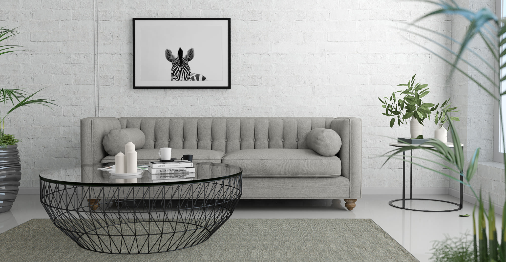 Brosa Animal wall art in Contemporary styled Living Room