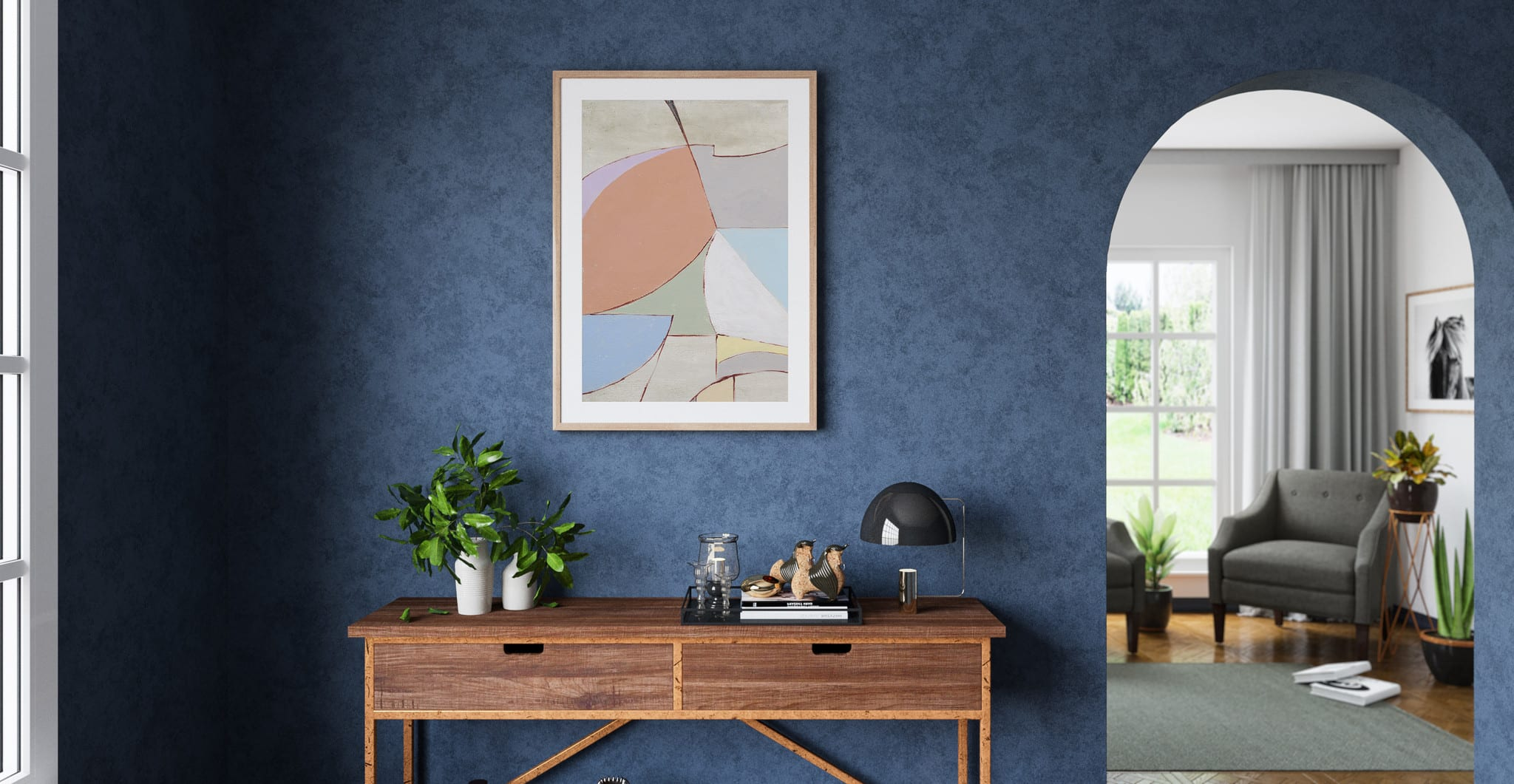 The Sorbet Print in Classic Style Hallway - Wall Art By Style