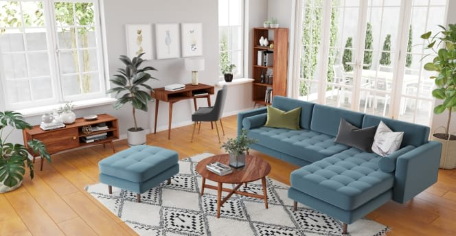 Home office inspiration - make your living room work for you