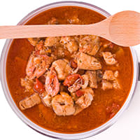 fish soup with crawfish