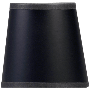 "3"" x 4"" x 4"" Black Paper Candle Clip Shade"