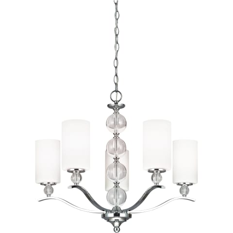 Englehorn Five Light Chandelier Chrome