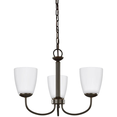 Bannock Three Light Chandelier Heirloom Bronze