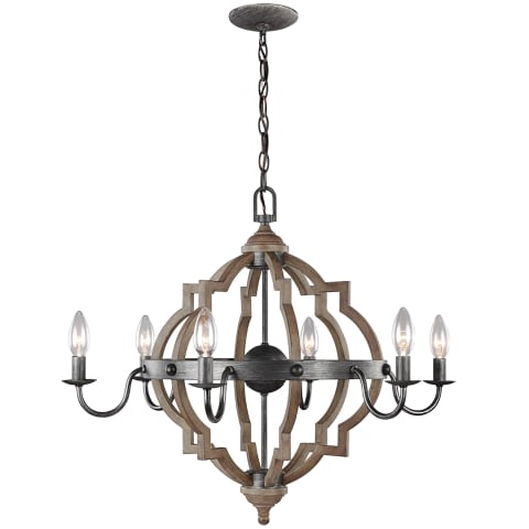 Socorro Six Light Chandelier Stardust