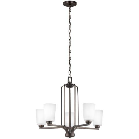 Franport Five Light Chandelier Bronze Bulbs Inc