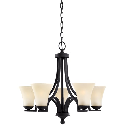 Somerton Five Light Chandelier Blacksmith Bulbs Inc