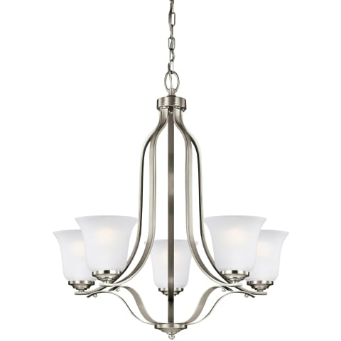 Emmons Five Light Chandelier Brushed Nickel