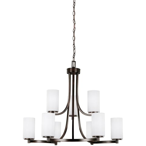 Hettinger Nine Light Chandelier Burnt Sienna