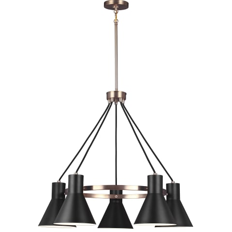 Towner Five Light Chandelier Satin Bronze