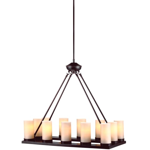 Ellington Twelve Light Chandelier Burnt Sienna