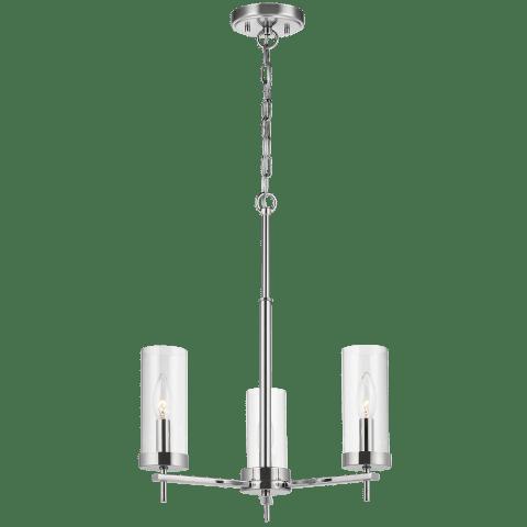 Zire Three Light Chandelier Chrome Bulbs Inc