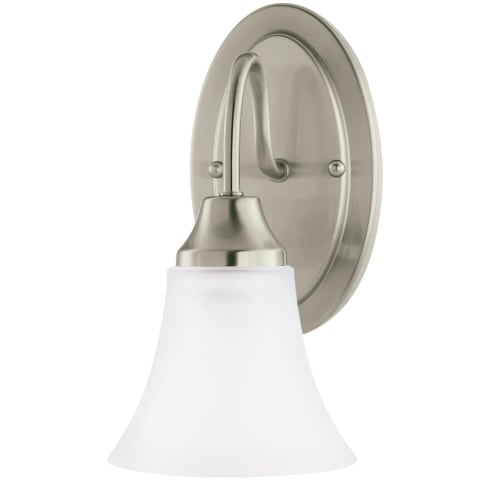 Holman One Light Wall / Bath Sconce Brushed Nickel Bulbs Inc