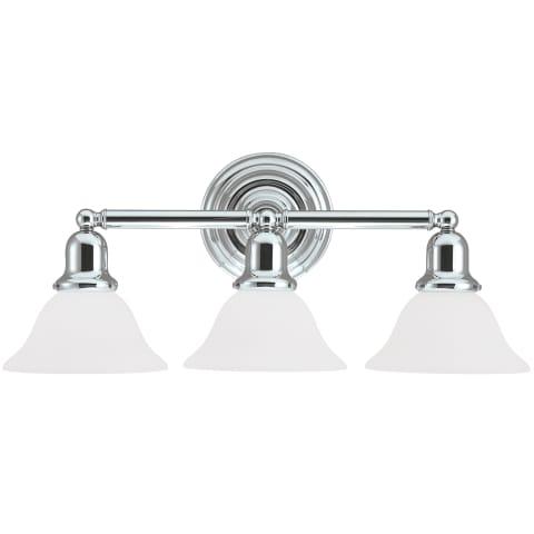 Sussex Three Light Wall / Bath Chrome