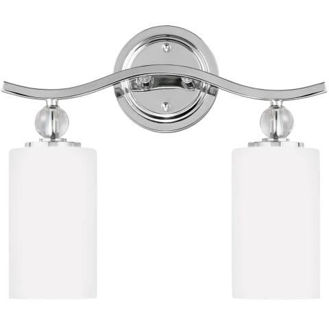 Englehorn Two Light Wall / Bath Chrome Bulbs Inc