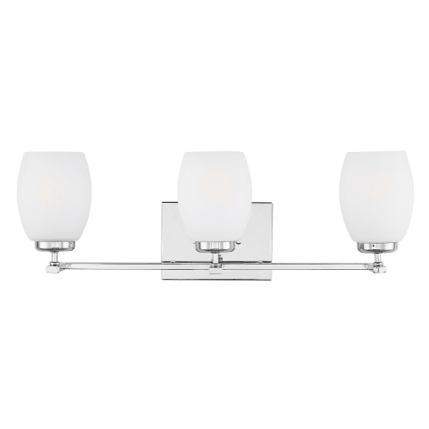 Catlin Three Light Wall / Bath Chrome Bulbs Inc