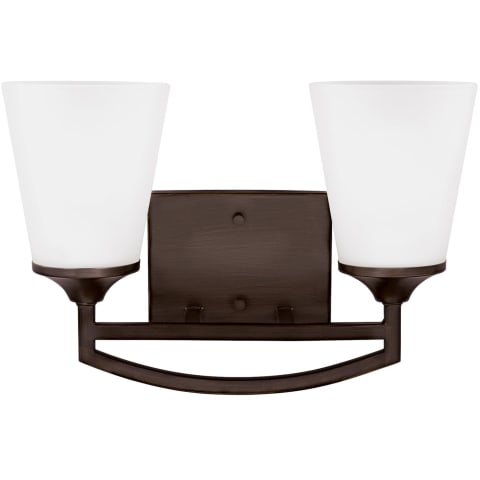Hanford Two Light Wall / Bath Bronze Bulbs Inc