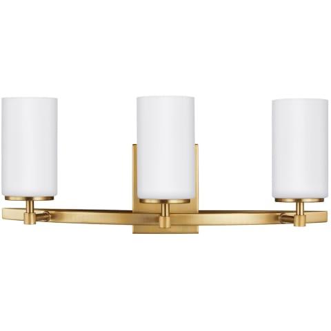 Alturas Three Light Wall / Bath Satin Brass Bulbs Inc