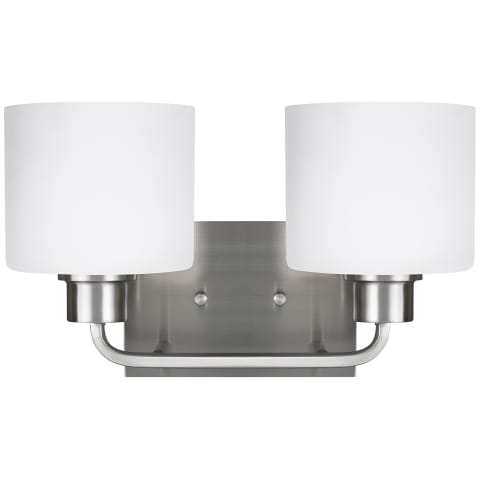 Canfield Two Light Wall / Bath Brushed Nickel
