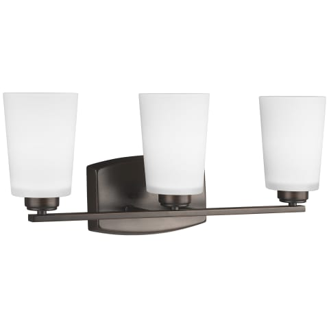 Franport Three Light Wall / Bath Bronze Bulbs Inc