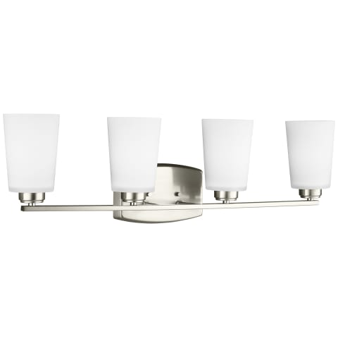 Franport Four Light Wall / Bath Brushed Nickel