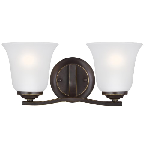 Emmons Two Light Wall / Bath Heirloom Bronze